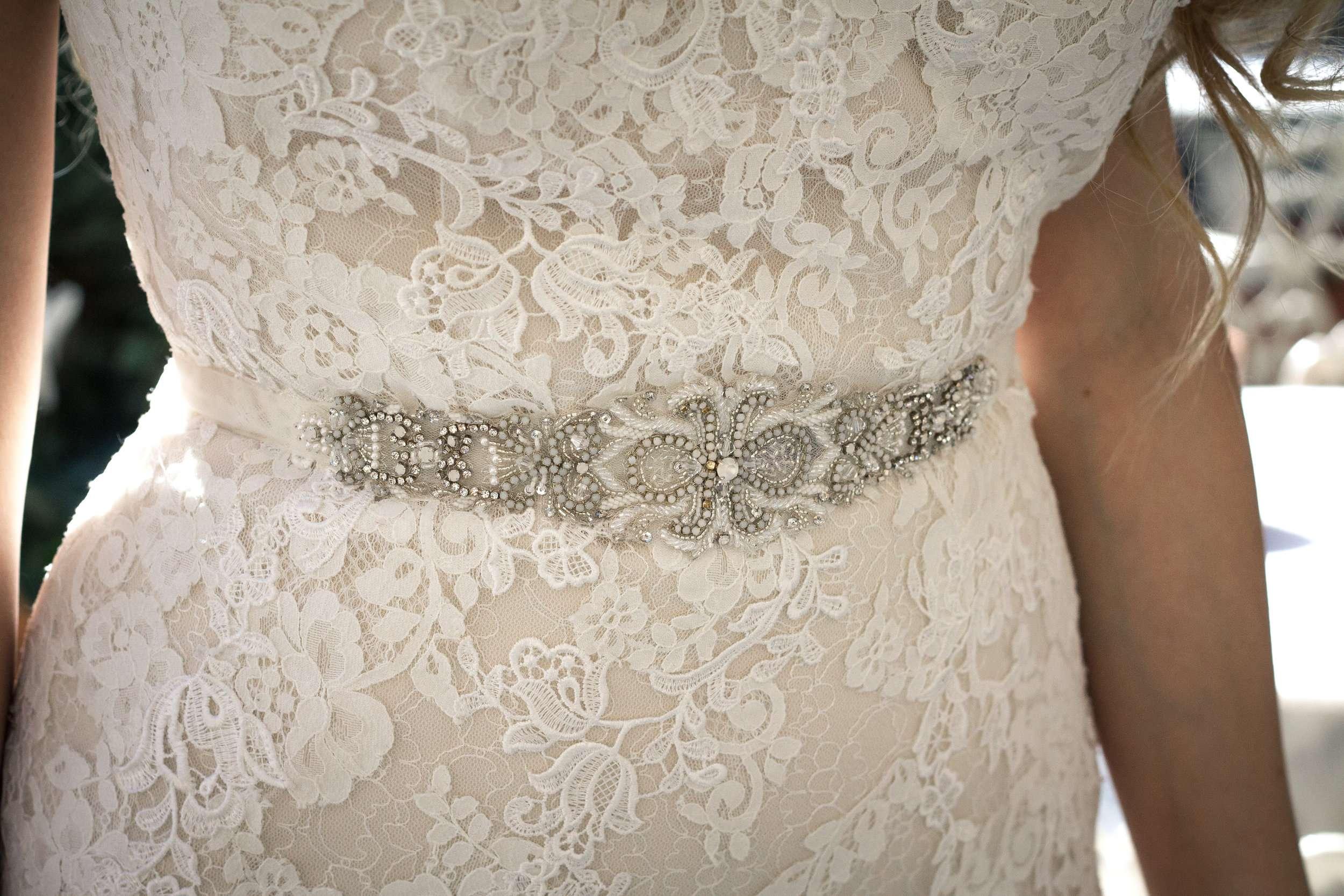 Dress: Pronovious Belt: Erin Cole