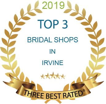 Top three bridal shops in Irvine award
