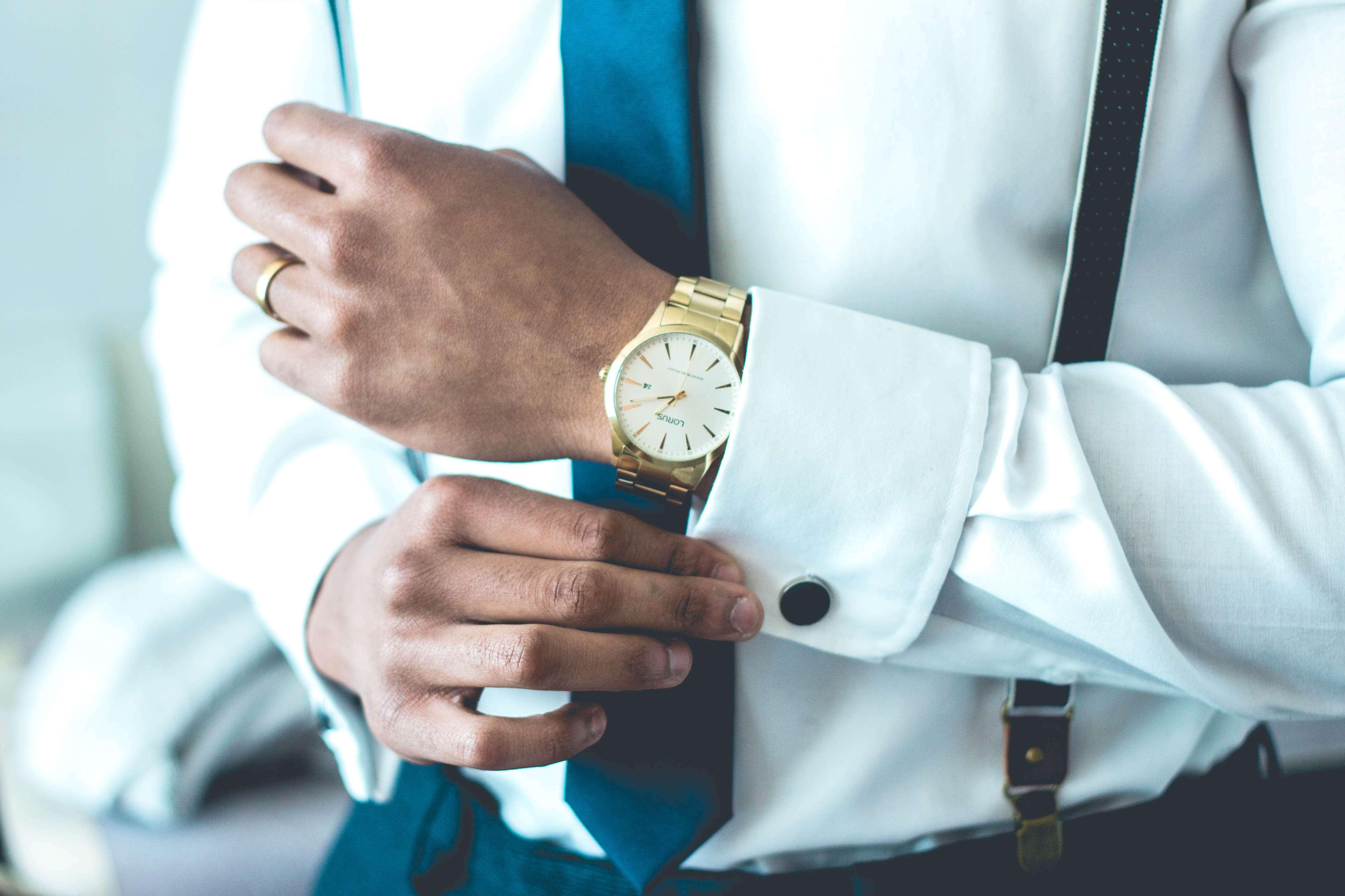 Mens Watch Suit Grooming